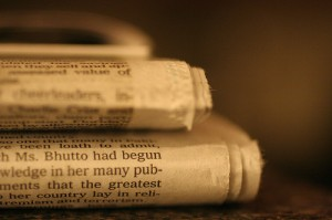 Picture of two newspapers
